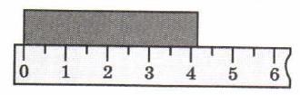 Пример получения результатов прямых измерений с помощью линейки